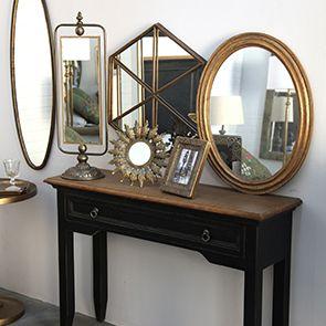 Miroir pivotant en métal doré - Visuel n°3