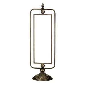 Miroir pivotant en métal doré