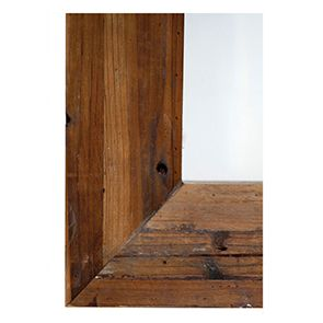 Miroir rectangulaire en bois