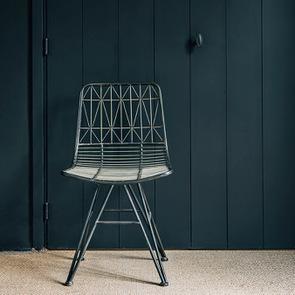 Chaise noire en acier - Factory - Visuel n°4