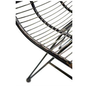 Chaise noire en acier - Factory - Visuel n°8