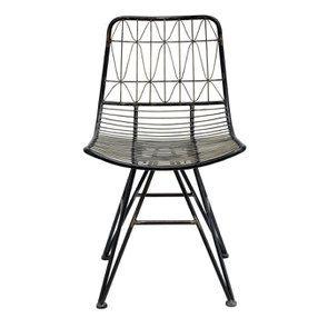 Chaise noire en métal