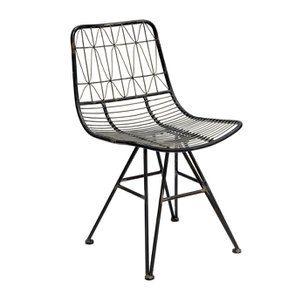 Chaise noire en acier - Factory - Visuel n°5