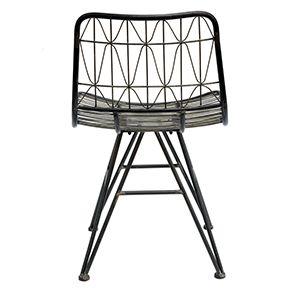 Chaise noire en acier - Factory - Visuel n°6