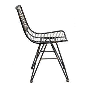 Chaise noire en acier - Factory - Visuel n°7