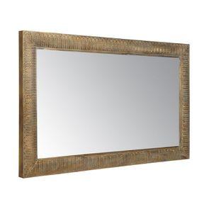 Miroir rectangulaire en métal doré - Visuel n°3