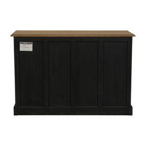 Buffet noir 12 tiroirs en pin massif - Manoir - Visuel n°5