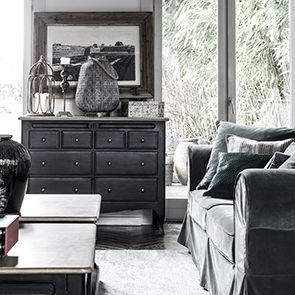 Commode 8 tiroirs en pin massif - Manoir - Visuel n°3