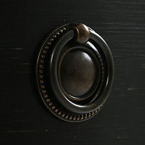 Commode noire 4 tiroirs en pin massif - Manoir - Visuel n°8