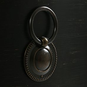 Commode noire 4 tiroirs en pin massif - Manoir - Visuel n°9