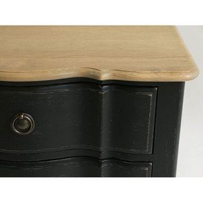 Commode noire 4 tiroirs en pin massif - Manoir - Visuel n°10