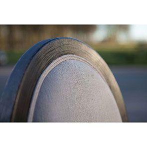 Chaise médaillon noire en hévéa et tissu - Manoir - Visuel n°5