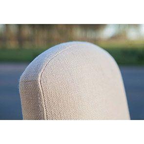 Chaise noire en hévéa massif et tissu - Manoir - Visuel n°7