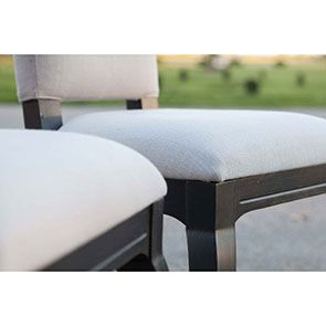 Chaise noire en hévéa massif et tissu - Manoir - Visuel n°8