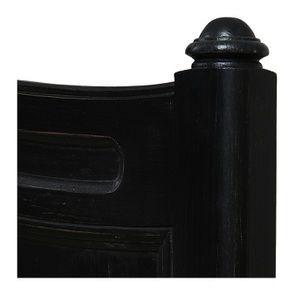 Lit pour literie 180x200 cm en pin massif noir - Manoir - Visuel n°7
