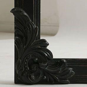 Miroir noir en pin massif - Manoir - Visuel n°7