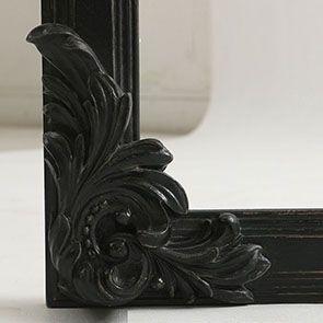 Miroir noir en pin massif - Manoir - Visuel n°8