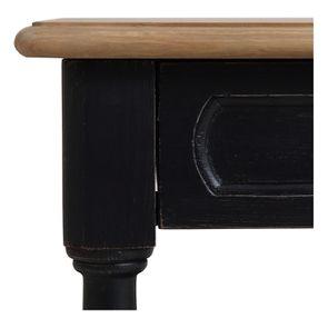 Bout de canapé 1 tiroir en pin massif noir - Manoir - Visuel n°8
