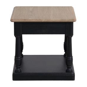 Bout de canapé 1 tiroir en pin massif noir - Manoir - Visuel n°7
