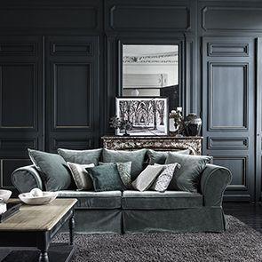 Table basse carrée noire en pin - Manoir - Visuel n°4