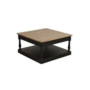 Table basse carrée noire en pin - Manoir - Visuel n°6