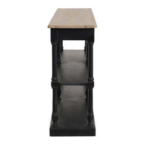 Table drapier 2 tiroirs en pin noir vieilli - Manoir - Visuel n°5