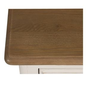 Commode 8 tiroirs en pin massif blanc - Manoir - Visuel n°9