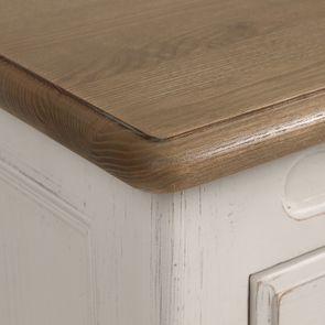 Commode 8 tiroirs en pin massif blanc - Manoir - Visuel n°10