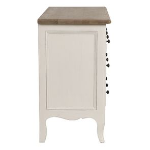 Commode 8 tiroirs en pin massif blanc - Manoir - Visuel n°5