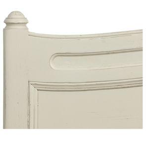 Lit 2 places 160x200 cm en bois blanc vieilli - Manoir - Visuel n°9