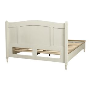 Lit 2 places 160x200 cm en bois blanc vieilli - Manoir - Visuel n°4