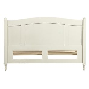 Lit 2 places 160x200 cm en bois blanc vieilli - Manoir - Visuel n°5