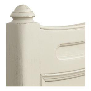 Lit 2 places 180x200 cm en bois blanc vieilli - Manoir - Visuel n°8