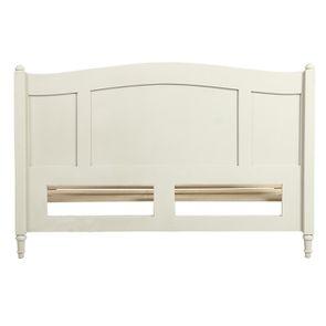 Lit 2 places 180x200 cm en bois blanc vieilli - Manoir - Visuel n°5
