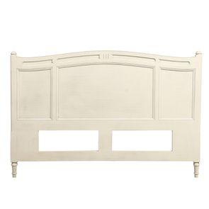 Tête de lit 140/160 cm blanc vieilli en bois massif - Manoir