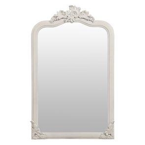 Miroir blanc en pin massif - Manoir