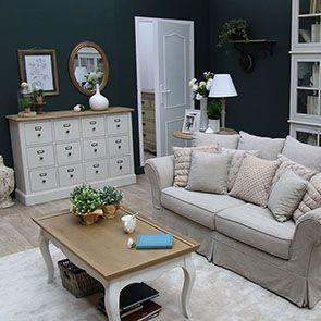 Table basse rectangulaire blanche en pin - Manoir - Visuel n°3