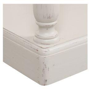 Table drapier 2 tiroirs en pin blanc vieilli - Manoir - Visuel n°7