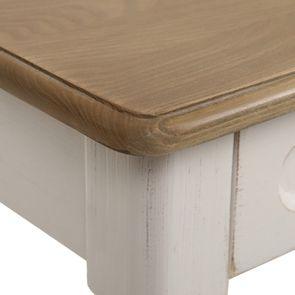 Table drapier 2 tiroirs en pin blanc vieilli - Manoir - Visuel n°9