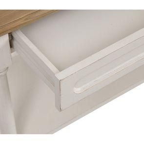 Table drapier 2 tiroirs en pin blanc vieilli - Manoir - Visuel n°10