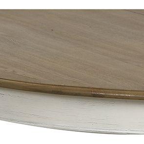 Table ronde extensible blanc vieilli pour 6 à 11 personnes - Manoir - Visuel n°3