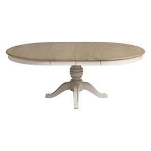Table ronde extensible blanc vieilli pour 6 à 12 personnes - Manoir - Visuel n°11