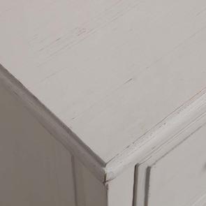 Caisson blanc 6 tiroirs en pin massif - Manoir - Visuel n°10