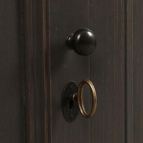 Buffet bas taupe 4 portes 1 tiroir en pin - Manoir - Visuel n°13