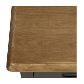 Buffet taupe 12 tiroirs en pin massif - Manoir - Visuel n°8