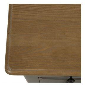 Commode 8 tiroirs en pin massif taupe moyen - Manoir - Visuel n°17