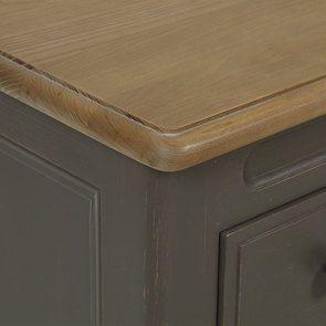 Commode 8 tiroirs en pin massif taupe moyen - Manoir - Visuel n°20