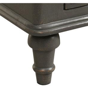 Commode taupe 4 tiroirs en pin massif - Manoir - Visuel n°11