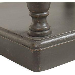 Table de chevet 2 tiroirs taupe en pin massif - Manoir - Visuel n°9
