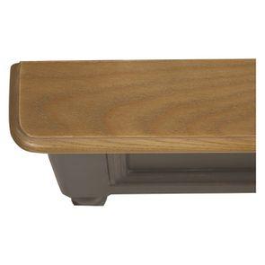 Lit pour literie 140x190 cm en pin massif taupe - Manoir - Visuel n°7